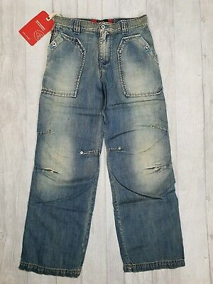 Energie Boys Washed Blue Denim Straight Leg Skeezer Jeans Age 10 Years