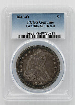 1846-O Liberty Seated Dollar. PCGS EF-40 Detail
