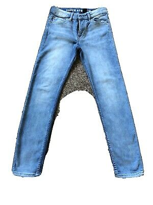 H&M Boys Supersoft Light Blue Skinny Fit Jeans Age 11 To 12 VGC