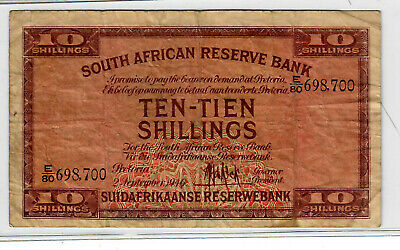 South Africa 10 Shillings No Date p-82e VG