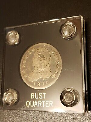 1815 Capped Bust Quarter With Initials on Reverse Rare Low Mintage 89,235