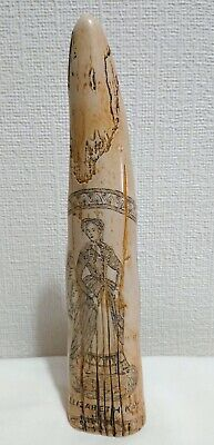 Carved & Cast Resin Reproduction American Scrimshaw Elizabeth Kay Whaling Ship