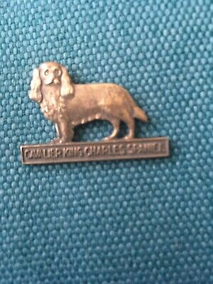 Cavalier King Charles Spaniel 3 Cm Brass Antique Butterfly fly pin brooch