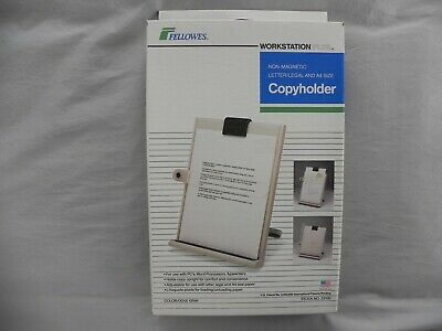 New Fellowes Workstation Plus Non-Magnetic Letter/Legal Copyholder , Dove Gray