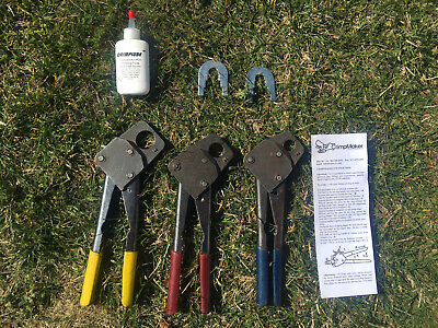 """FULL SET of PEX crimping tools 1/2"""" 3/4"""" and 1"""", measuring tools and oil"""
