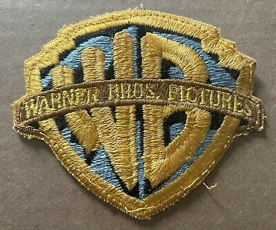 Vtg 70's Embossed Thick Warner Bros Pictures Inc Patch Logo Use For SnapBack Hat