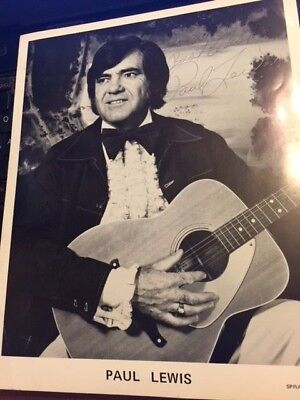 Paul Lewis - Deceased - Country Music Star Autographed Promotional Shot !!