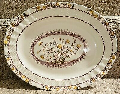 """Copland Spode Chelsea Wicker """"Buttercup"""" Pattern Serving Dish / Tray With Stamp"""