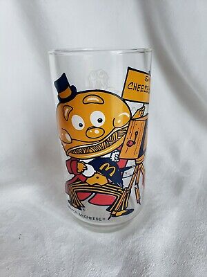 VINTAGE DRINKING GLASS MCDONALDS COLLECTIBLE MAYOR McCHEESE RETRO ADVERTISING