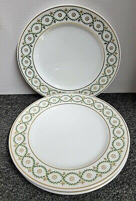 """Spode-England Garland 1810 Reproduction Y-8054 Set Of 4 Dinner Plates 10.5"""""""