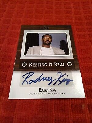 Rodney King hand signed Leaf Keeping It Real 2012 card LA Riots Activist BLM