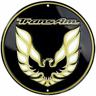 PONTIAC Trans Am Garage Sign12 Inches Round, Vintage Pontiac Automotive Metal