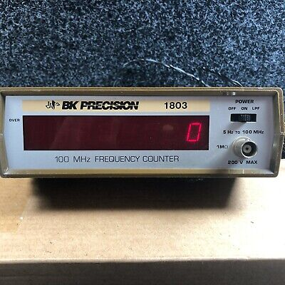 BK Precision 1803 5-100 MHz Frequency Counter 200 Volts Max