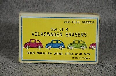 Set of 4 Volkswagen erasers. How's that for different. New.