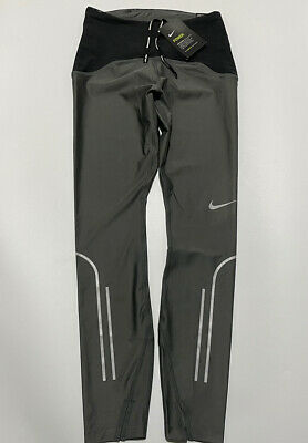 Nike Power Speed 7/8 Tight Fit Running Tights Size Small Bv3272 068 Grey/ Black