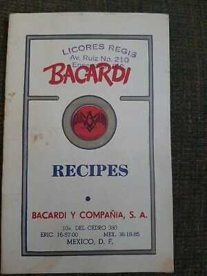 Bacardi Recipes Booklet Mexico DF vintage stamped