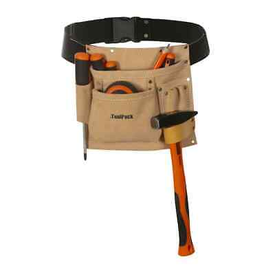Toolpack Single-Pouch Tool Belt Leather Regular Tool Pocket Storage Hamme Nail