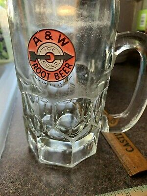 mug VINTAGE A & W ROOT BEER ICE COLD MUG VERY HEAVY