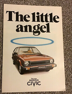 The New HONDA CIVIC 'The Little Angel' Sales Brochure - 1980's