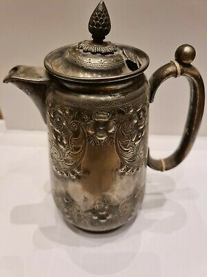 Large Antique Vintge Pewter Jug