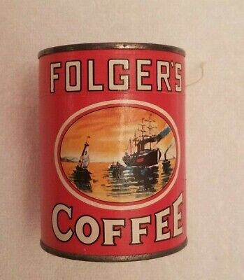 Mint VINTAGE 1980's FOLGER'S COFFEE PROMOTIONAL PUZZLE IN UNOPENED CANISTER