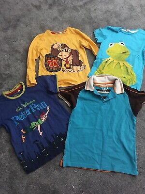 Boys Top Bundle Age 4-6  Including Disney's Peter Pan, Kermit And Donkey Kong!