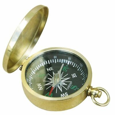 Hinged Lid Compass, Small Maritime Magnetic Compass From Polished Brass