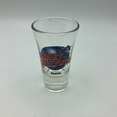 """Planet Hollywood Seattle Shot Glass 3-1/2"""" Tall   Y3"""