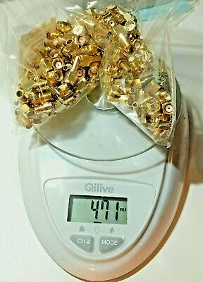 ( 471 Grams )( 1,039 LBS ) Gold Plated Conectors For Gold Recovery
