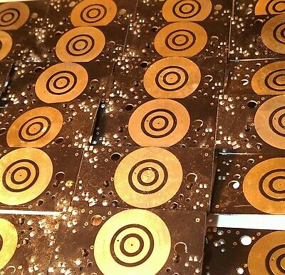 24x ~ ( 203 Grams ) GOLD-PLATED BOARDS FOR EXTRACTING 24 CARATS OF GOLD !