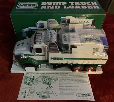 2017 Hess Dump Truck and Loader Rare New in Box Original Shipping Box Collector