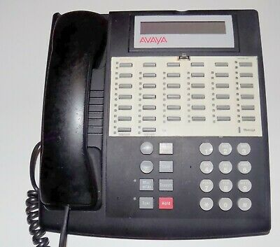 AVAYA / LUCENT PARTNER 34D Black PHONE CONSOLE ***AS IS *** Untested