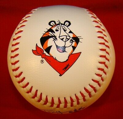TONY THE TIGER OFFICIAL SIZE BASEBALL FROM A KELLOGG'S 1980's MAIL-IN PROMOTION!