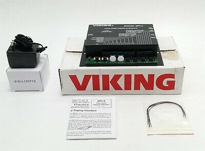 New Viking Zpi-4 261119 Overhead Four-Zone Paging Interface Touch Tone Zpi4