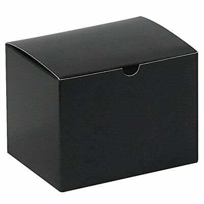 """Top Pack Supply Gift Boxes 6"""" x 4 1/2"""" x 4 1/2"""" Black Gloss Pack of 100"""
