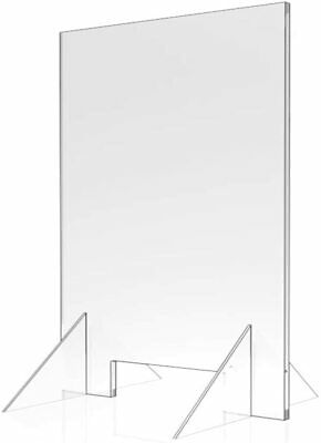 """Sneeze Guard - 24"""" W x 30"""" T Acrylic Divider Protection Barrier Shield Checkout"""