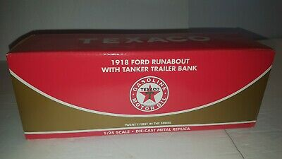 Texaco New Sealed1918 Ford With Tanker Trailer-