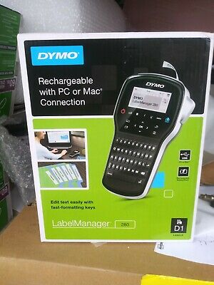 Dymo Rechargeable Label Manager 280 Thermal Label Printer Handheld LMR-280