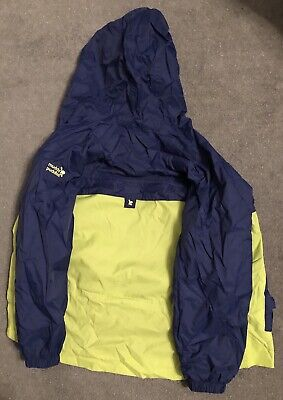 Muddy Puddles Blue Stripe Rain Coat age 11-12yrs New with tags