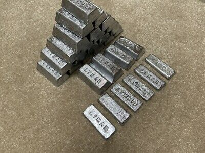 10 pounds lead ingots clean for casting bullets sinkers clean fluxed no waste