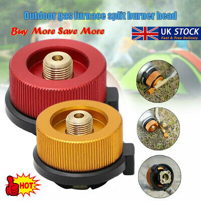 Details about  /Camping Burner Cartridge Gas Fuel Canister Stove Cans Tank Adapter ConverteZT