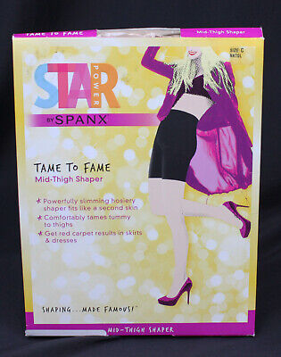 Black CHOOSE SIZE NEW SPANX Star Power Tame To Fame Mid Thigh Shaper