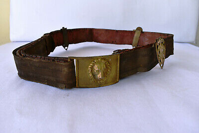 ANTIQUE RARE MILITARY Belt Buckle With Lion Gilt Brass Buckle - Early  Military - £249.99 | PicClick UK