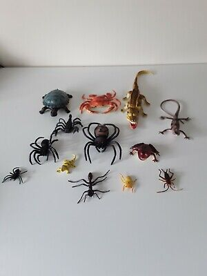 Crabe Spider New Safari cave dwellers loose Jouet Animal Sauvage Tube Paquet De 8