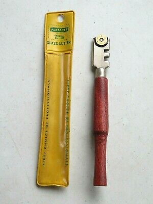 Fletcher No.29 wood handle in nice condition Vintage 1950/'s six wheel glass cutter