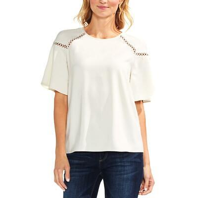 Vince Camuto Womens Ivory Floral Surplice Bell Sleeves Blouse Top XS BHFO 5462