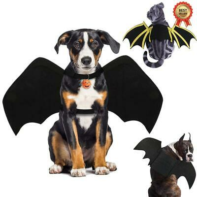 Pet Costume Dog Cat Halloween Bat Wing Cosplay Outfit Pets Funny Party Clothes