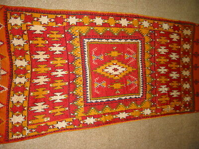c1910's Antique Moroccan North Africa Rug B-7828