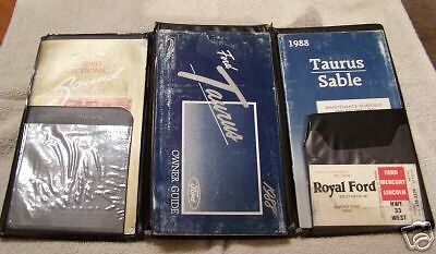 **LOOK** 1988 Ford Taurus/Sable Owners Manual Set 88