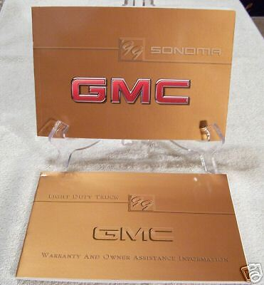** NEW** 1999 GMC Sonoma Owners Manual Set 99